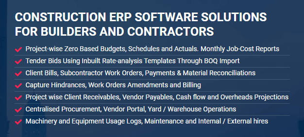 construction ERP software for builders and contractors