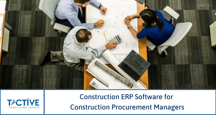 construction erp software for construction procurement managers